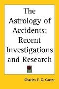 Astrology of Accidents: Recent Inves