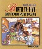 Birth to Five: Early Childhood Special Education