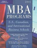MBA Programs 2001: U. S., Canadian and International Business Schools 2001 - Peterson's
