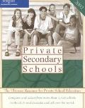 Peterson's Private Secondary Schools 2002 The Ultimate Resource for Private School Education