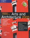 Graduate Programs in Arts and Architecture 2003 - Peterson's - Paperback - 3RD REV