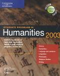 Graduate Programs in Humanities 2003