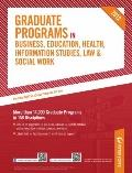 Graduate Programs in Business, Education, Health, Information Studies, Law and Social Work 2...