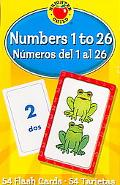 Numbers 1 to 26/numeros Del 1 Al 26 Flash Cards