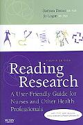 Reading Research A User-friendly Guide for Nurses and Other Health Professions