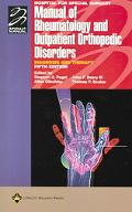Hospital for Special Surgery Manual of Rheumatology and Outpatient Orthopedic Disorders Diag...