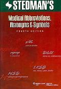 Stedman's Medical Abbreviations, Acronyms & Symbols