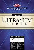 Holy Bible New King Jame's Version, Ultraslim, Burgundy, Gilded Gold, Leather