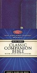 Classic Companion Bible New King James Version/Tyrian Purple Bonded Leather/Gilded-Silver