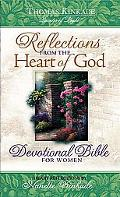 Reflections from the Heart of God Devotional Bible for Women, Juniper Green Leather, New Kin...