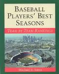 Baseball Players' Best Seasons Team by Team Rankings