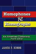 Homophones And Homographs An American Dictionary