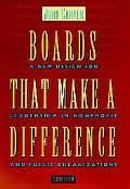 Boards That Make a Difference A New Design for Leadership in Nonprofit and Public Organizations