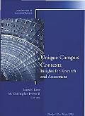 Unique Campus Contexts Insights For Research And Assessment