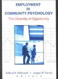 Employment in Community Psychology The Diversity of Opportunity