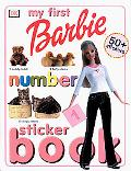 Barbie-My First Number Sticker Book