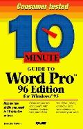 10 Minute Guide to WordPro 96 Edition for Windows 95 - Jennifer Fulton - Paperback