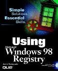 Using the Windows 98 Registry - Jerry Honeycutt - Paperback - BK&CD ROM