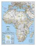 Africa Wall Map Laminated