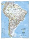South America Wall Map Enlarged & Laminated (Reference - Continents)
