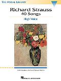 Richard Strauss 40 Songs High Voice