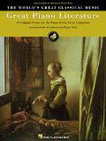 Great Piano Literature 67 Favorite Selections of Original Music for Piano for Intermediate t...