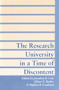 Research University in a Time of Discontent