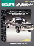 Chilton's General Motors Full-Size Trucks 1980-87 Repair Manual