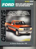 Chilton's Ford Pick-Ups and Bronco 1987-96 Repair Manual