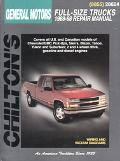Chilton's General Motors-Full-Size Trucks 1988-98 Repair Manual 1988-98 Repair Manual