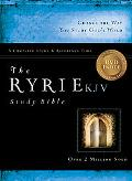 The Ryrie KJV Study Bible Genuine Leather Burgundy- Red Letter Indexed with DVD