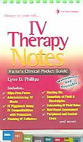 Iv Therapy Notes Nurse's Pharmacology Pocket Guide