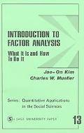 Introduction to Factor Analysis What It Is and How to Do It