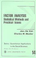 Factor Analysis Statistical Methods and Practical Issues