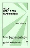 Rasch Models for Measurement