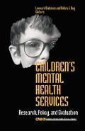 Children's Mental Health Services Research, Policy, and Evaluation