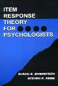 Item Response Theory for Psychologists