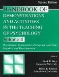 Handbook of Demonstrations and Activities in Teaching of Psychology Psysiological-Comparativ...