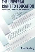 Universal Right to Education Justification, Definition, and Guidelines