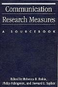 Communication Research Measures A Sourcebook