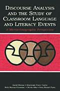 Discourse Analysis & The Study of Classroom Language & Literacy Events A Microethnographic P...