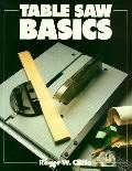 Table Saw Basics - Roger W. Cliffe - Paperback