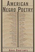 American Negro Poetry An Anthology