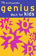 Genius Deck for Kids 75 Word Puzzles