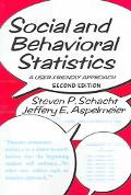 Social And Behavioral Statistics A User-Friendly Approach