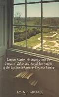 Landon Carter an Inquiry into the Personal Values