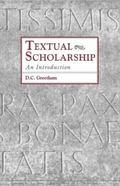 Textual Scholarship An Introduction