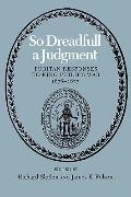 So Dreadful a Judgment Puritan Responses to King Philip's War, 1676-1677