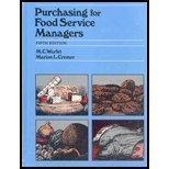 Purchasing for Food Service Managers - 5th