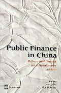 China Public Finances for a Harmonious Society